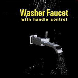 Bathroom Faucet Accessories Solid Brass Chrome Finished In-Wall Shower Spout tap washer faucet with handle control