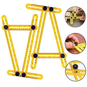 Multi Angle Measuring Ruler, Template Measurement Tool for All Angles & Shapes,Multi Functional Ruler Best for Craftsmen Handymen Builders