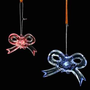 LED Iluminado Natal Floco De Neve De Plástico Ornamento Criativo Pendurado Floco De Neve Espumante Ornament Fada Do Jardim Da Árvore Do Ano Novo