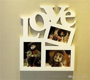 Amor Siamese Letter Photo Frame Criativo Crianças DIY Boa Memória Arte Da Parede Fotos Decorações De Mobiliário De Casa De Madeira Natural 2zx ii