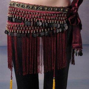 I più venduti Donne Tribal Belly Dance Hip Scarves Belly Dancing Waist Cinture in vendita