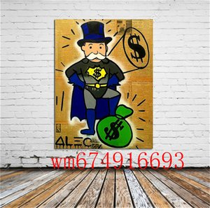 Alec Monopoly , Canvas Pieces Home Decor HD Printed Modern Art Painting on Canvas (Unframed Framed)