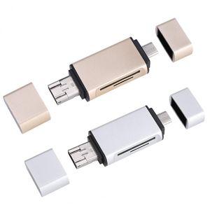 Новый 3 в 1 OTG адаптер USB Type-C SD/Micro CD Card Reader USB2.0 Micro USB разъем для ноутбуков Macbook Android телефонов универсальный