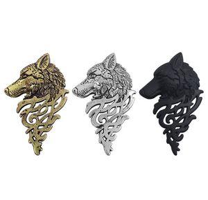 합금 늑대 머리 브로치 쥬얼리 속옷 칼라 아웃 트렌디 한 동물 Domineering 늑대 핀 3 색