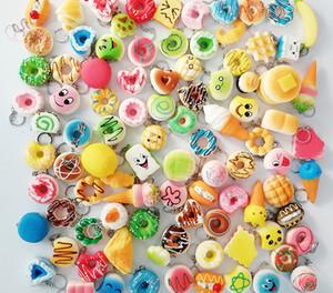 아름다운 Kawaii Squishies 빵 토스트 도넛 빵 핸드폰 가방에 대한 매력 스트랩 도매 혼합 희귀 Squishy 느린 상승 끈 향기로운