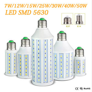 Epacket Led Corn lumière E27 E14 B22 SMD5630 85-265V 12W 15W 25W 30W 40W 50W 4500LM LED ampoule de la lampe d'éclairage 360 degrés Led 55