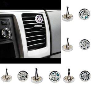 Perfume de coche Clip de casa Esencial Difusor de aceite esencial para el coche Clip Locket 30 mm de acero inoxidable del coche ambientador de aire acondicionado ventilación Clip WX9-296