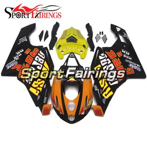 Rossi amarelo Full Fairings para Ducati 999 749 Monoposto 2003 2004 Plásticos de injeção ABS Fairings Motorcycle Fairing Kit Carroçaria