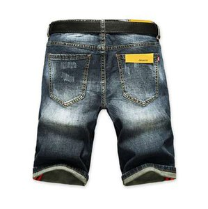 AIRGRACIAS Shorts Men Ripped Short Jeans Straight Retro Shorts Jean Bermuda Male Denim Brand Clothing Plus Size 28-40