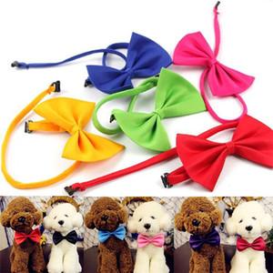 Perro Pajaritas mascotas Genteel Bowknot hermoso perro corbata personalizada gato corbata collares para mascotas preparación fuentes T2I307