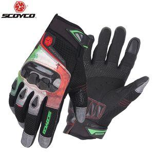 SCOYCO Летнего Нового мотоцикл перчатка локомотивной гоночные перчатки рыцарь верхом перчатки из углеродного волокна Анти борьбы вентилирует, M47