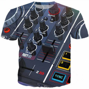 Nuovi uomini / donne di modo DJ Audio Music Divertente 3D stampato T-shirt Summe Style Fashion Casual T-shirt S-XXXXXXL U171