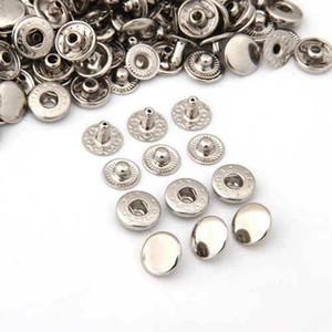 Botones de perno prisionero de prensa de metal sin costura sujetador rápido Popper 10 mm 200 juegos