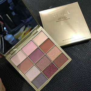 Dropshipping (em estoque) Hot Sale Stila Cosmetics Matte N metal Eyeshadow Paleta 12 cores de maquiagem dos olhos Sombra pigmentado pó!