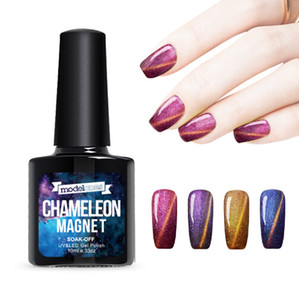 10ml UV Chameleon Gel Nail 3D Magnetic Cat Eye Soak Off Gel UV Polish Glitter Vernice 12 colori per scegliere