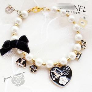 colgante de pequeñas joyas animales en forma de corazón brillante accesorios para mascotas envío libre de la perla grande ajustable accesorios del perro collar de lujo