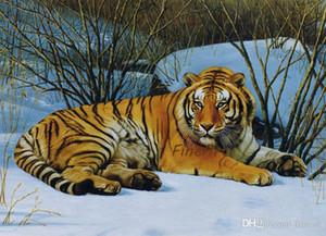 يدويا النفط قماش قماش خصم نمر اللوحة الفنية النفط الحيوانية الفنون الجميلة لوحات الفن جدار مكتب جديد decortion
