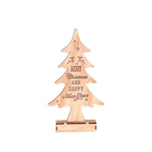 Wooden Christmas Tree Led Shape Light Creative Ornaments Decoration Night Lamp for Christmas Festival Bedroom Gifts Party
