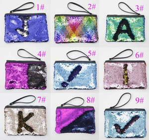 3pcs 2021 Glitter Mermaid Sequin Evening Clutch Bag Reversible Sequins Coin Wallet Purse Makeup Storage Mix Color Cosmetic Bag