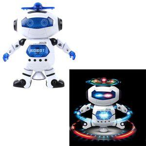 Incrível 360 Rotating Smart Space Dança Robot Eletrônico Andar Brinquedos Com Luz Da Música Para Crianças Astronauta Toy Presente de Aniversário