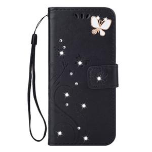 Shinning kelebek telefon kılıfı 2 In 1 Küçük Kuş Cüzdan Kılıf Standı Ile PU Deri Telefon Kabuk Için kayış Kart Yuvası Cep iphone 6 7 8 9 x