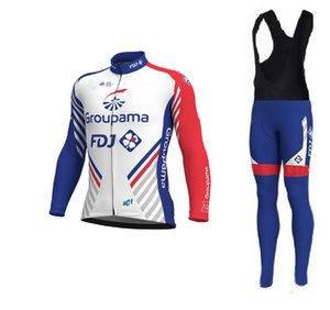SPRING SUMER CYCLING LONG JERSEY ROPA CICLISMO+ BIB PANTS GROUPAMA FDJ 2018 TEAM GEL PAD-PICK SIZE:XS-4XL