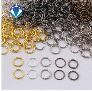 MINGXUAN 4-10 мм Dia 200 шт./пакет Оптовая Gunblack/античная бронза/золото/серебро/родий цвет кольца ювелирные изделия делая выводы