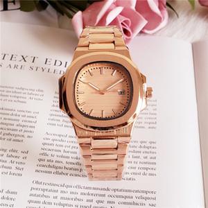 Un pc / lotto Nuovo stile di moda Donna / uomo orologio al quarzo Lady orologio da polso Bracciale in acciaio Catena Orologio amante di lusso Chiusura pieghevole di alta qualità