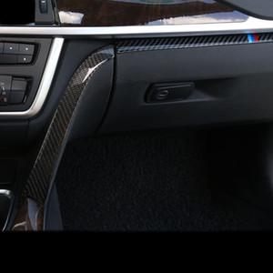 탄소 섬유 자동차 스타일링 내부 Copilot 장갑 상자 손잡이 장식 커버 트림 스티커 BMW 용 3 4 시리즈 3GT F30 F31 F32 F34 액세서리