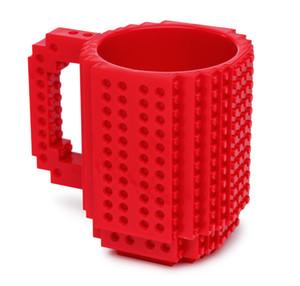 12oz Creative Tasse À Lait Tasse À Café Creative Build-on Brique Tasse Tasses À Café Titulaire De L'eau Potable pour LEGO DIY Puzzle Building Blocks Design