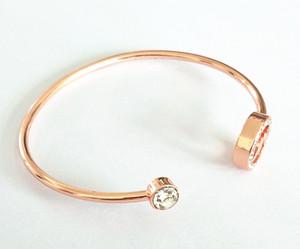 mit Logo Luxus berühmte große Marke MK Armband Kette m Serie Diamant offenes Armband einstellbare Mode für Mann und Frau