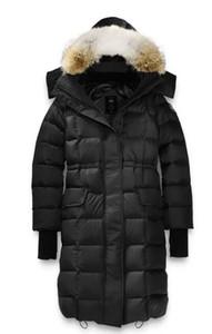 2019 NOVITÀ! Vendita calda con il prezzo all'ingrosso Il rivestimento giù delle donne con cappuccio di inverno della pelliccia del rivestimento del cappuccio di Lunenburg delle donne di marca Canada libera il trasporto