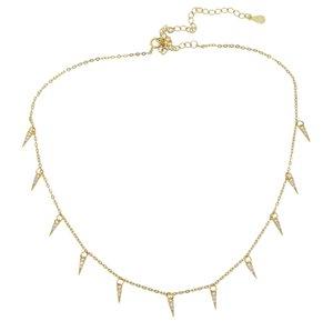 Women Spike Fashion Cz Statement 925 Necklaces Sterling Jewelry Charm Jewelry European Silver Fine Necklace Hgcjl