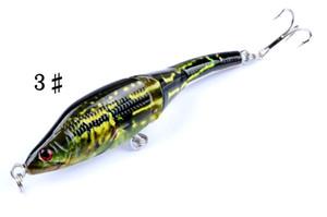6pcs Lot Bionic 3D Eyes Painted VIB Fishing Hard Lures 8.9g 9.5cm Artificial Wobbler 3 Segments Plastic Fishing Baits