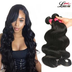 Affascinanti malesi capelli dell'onda del corpo bundles 8-28 pollice non trasformati dell'onda del corpo dei capelli umani estensioni naturali onda del corpo vergine dei capelli tesse