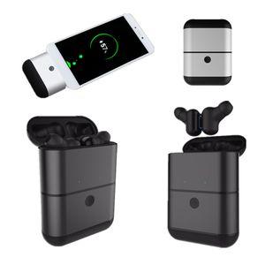 높은 품질 X2-TWS 분리 유형 블루투스 무선 스테레오 헤드폰 미니 쌍둥이 전원 은행 HIFI 사운드 효과와 방수 이어폰