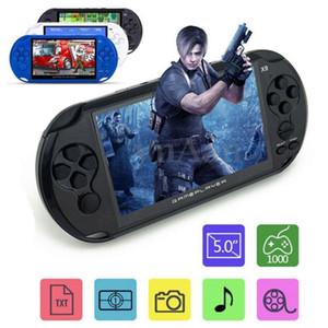 X9 recargable 5.0 pulgadas 8G Consola de juegos retro Videocámara reproductor de MP3 Cámara
