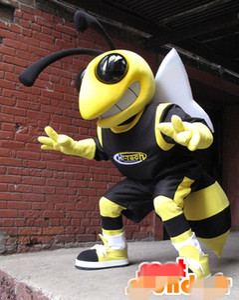 Özel Hornet arılar maskot kostüm Yetişkin Boyutu eklemek LOGOSU ücretsiz kargo