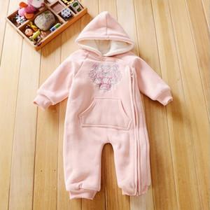 3M-24M Pagliaccetti del bambino Inverno caldo abbigliamento in pile Set per ragazzi Cartoon Infantile Vestiti delle ragazze Tutina neonato Tuta del bambino