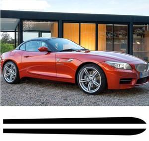 2018 новый M Спорт производительность боковая юбка подоконник Виниловая полоса наклейки наклейка для BMW Z4 E85 E86 E89 - глянцевый/матовый/5D углерода Blk