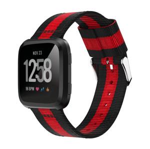 für Fitbit Versa Bänder, Ersatz Nylon Sport Armband Armband Fitness Zubehör Armbänder für Fitbit Versa Smart Watch