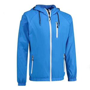 Giacche da uomo Quickly Dry Giacche sportive traspiranti Primavera / Estate Outdoor Abbigliamento da uomo di alta qualità Running / Escursioni Mens Felpe con cappuccio Big Size