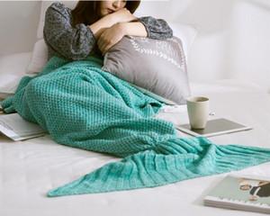 70 * 140 cm Mermaid Tail Mermaid Tail Divano per adulti Coperta in maglia Coperta per trapunta Cocoon Sleeping Sack Tail Coperte DHL libero