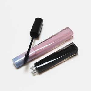 8ml Mascara acrílico vacío tubo de gradiente Negro Rosa Grado superior de bricolaje Rimel del ojo del rimel del maquillaje de la herramienta de contenedores de estética