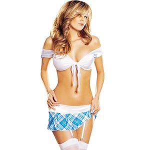 Costume sexy della ragazza della scuola Cheerleading Costume di Halloween Sexy Flirt Infermiera Costume W342254 Y1892611