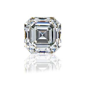 0.15Ct ~ 6.0Ct (3MM ~ 10.5MM) Corte Asscher con certificado D / F Color VVS Clarity Laboratorio sintético Diamante Moissanite Piedra Corte 3EX Diamante suelto