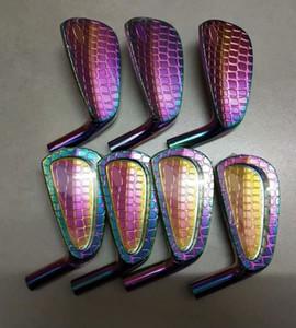 Juego de cabeza de hierro de golf Zo (7pcs / lot) 4-9 P # hierro suave forjado grano de cocodrilo juego de cabeza de hierro de golf gota envío OEM al por mayor disponible