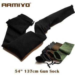"""Armiyo 54 """"Knit Gun Calcetín Poliéster tratado a prueba de silicona Rifle Protector Airsoft Holster Manga de almacenamiento Tela Caza"""