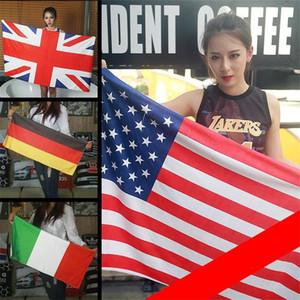 Alemania Francia EE. UU. Canadá Gran Bretaña Toallas nacionales Bandera Baño Toalla de playa Fibra extrafina Poliéster Cuadrado Deportes 30js ff