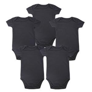 Concurso Babies Place Nova unisex Baby Boy Roupas de bebê recém-nascido Black Body 100% algodão macio 0-12 meses de manga curta